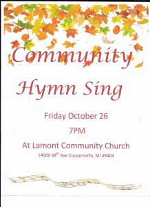 Community Hymn Sing @ Lamont Community Church